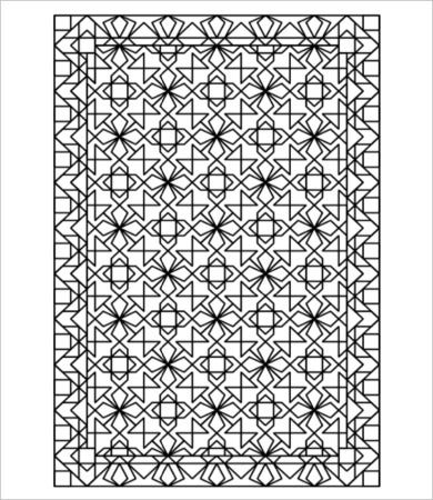 geometric lines coloring page