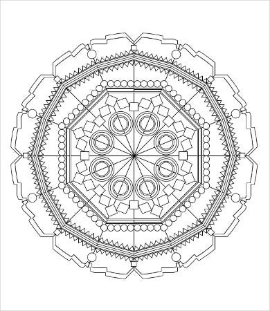 free printable geometric coloring page