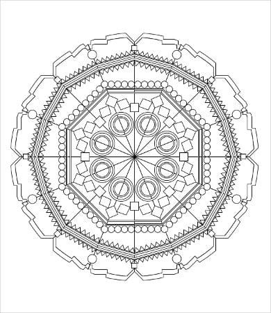 Geometric Coloring Page - 9+ Free PDF, JPG Format Download | Free ...