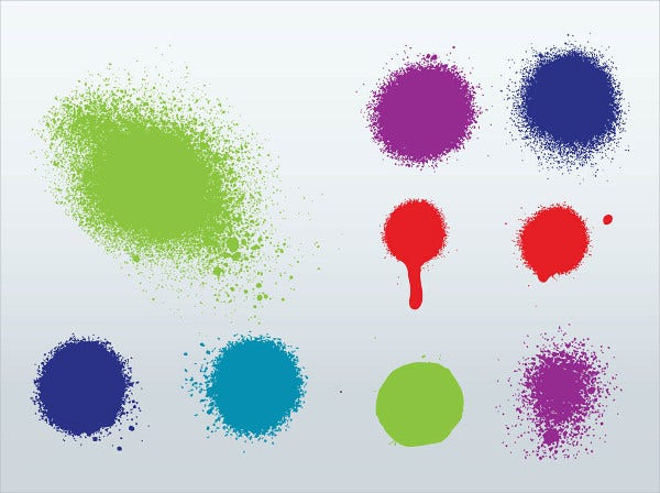 spray splash vector