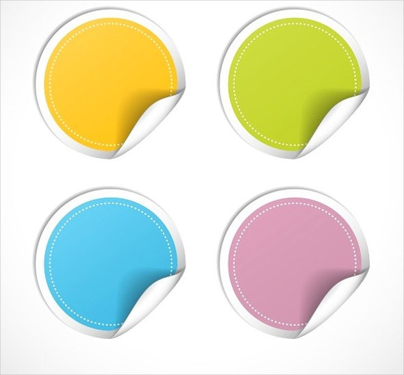 round-sticker-vector