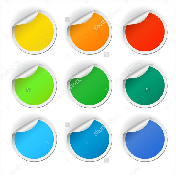coloured round stickers