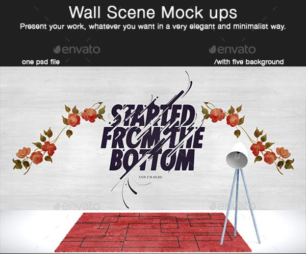 Wall Scene Mockup