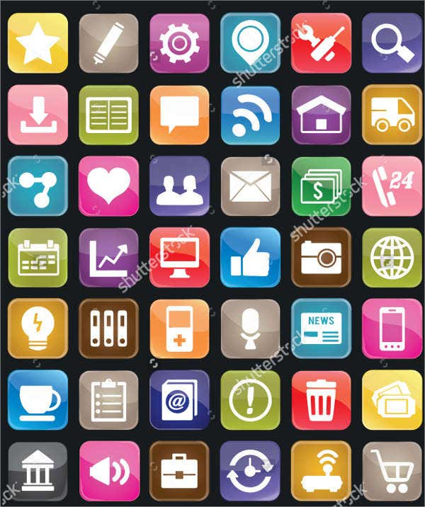 social button icons