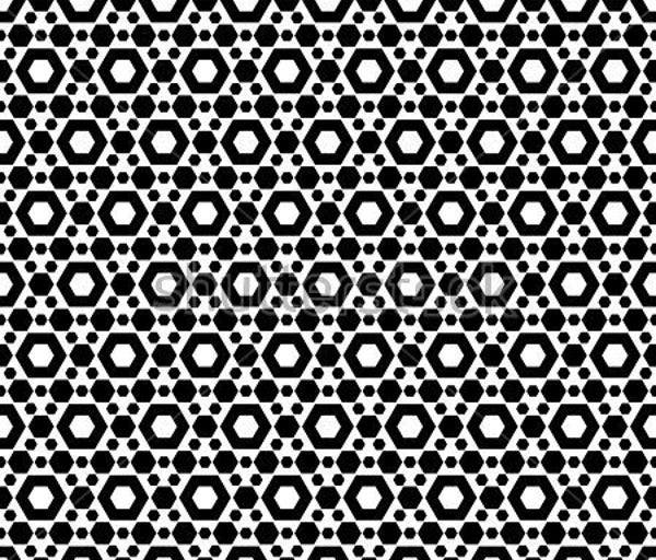 black and white hexagon pattern