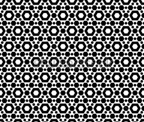 black-and-white-hexagon-pattern