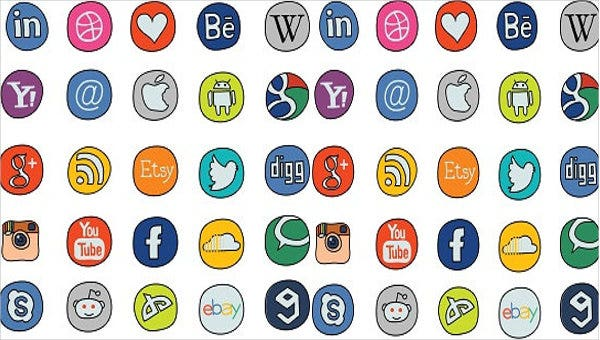 doodle-social-icons