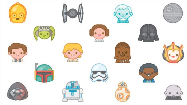Star Wars Emoji Icons