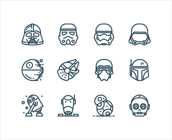 Star Wars movies Icons