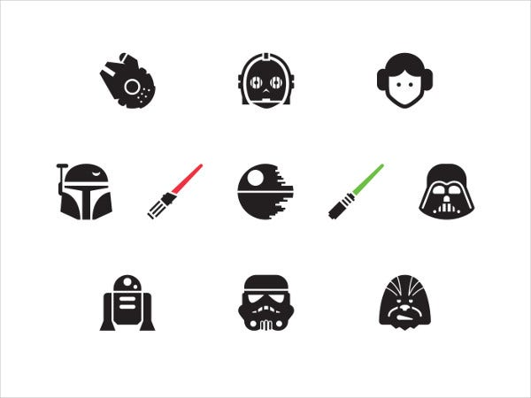 Free Vector Star Wars Icons
