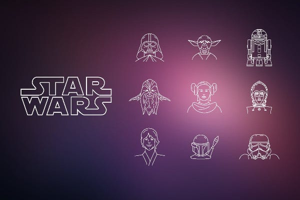 Awesome Star Wars Icon Set