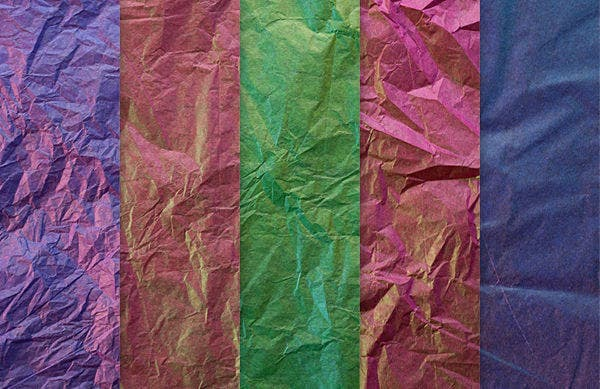 crumpled wrapping texture