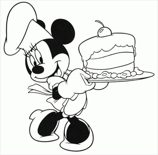 Disney Happy Birthday Coloring Page
