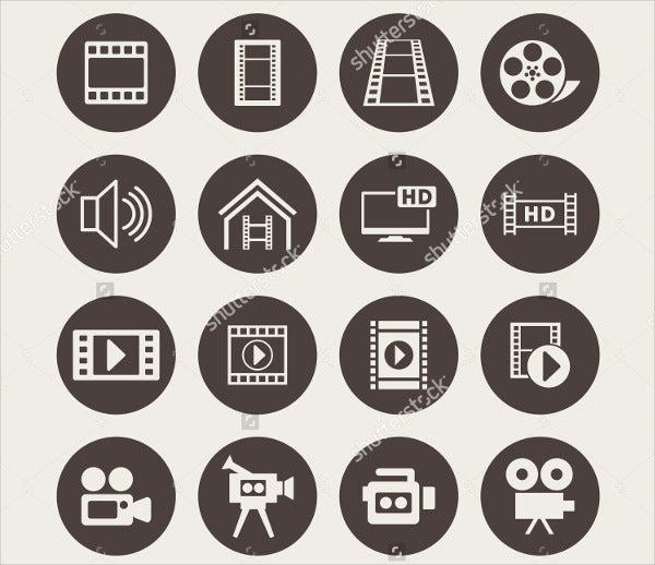 abstract video icons