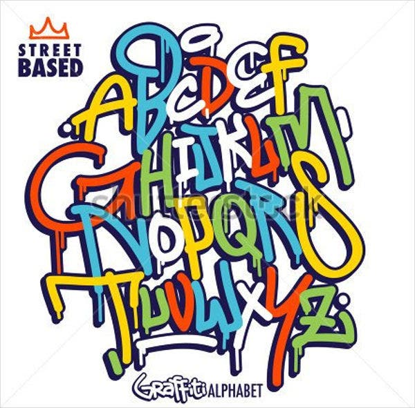 graffiti-alphabet-vector