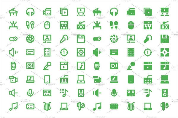 Multimedia Material Design Icons