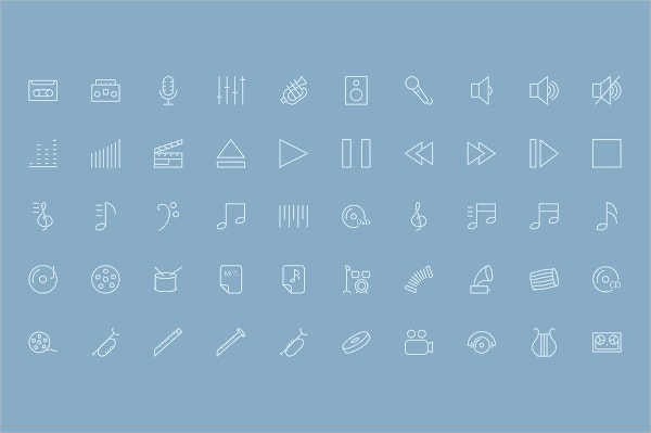 Music and Multimedia Icons