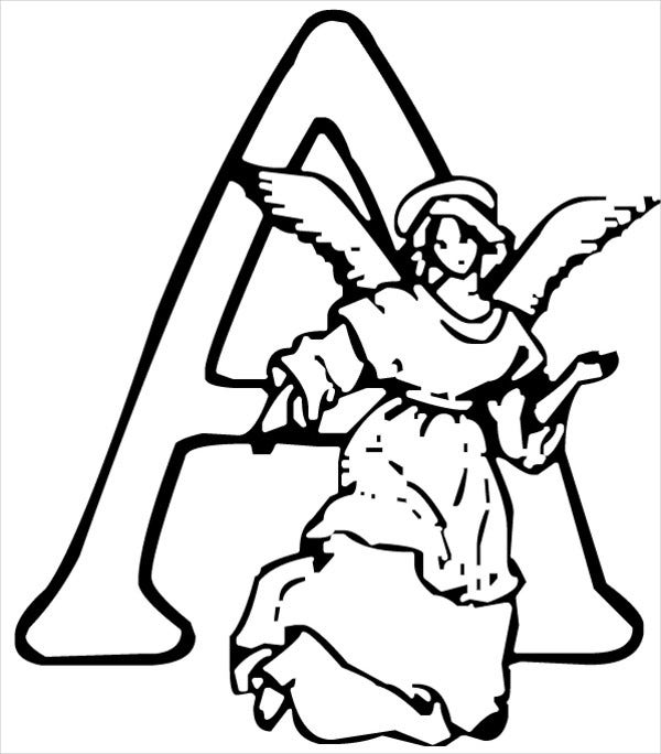 Alphabet Christmas Coloring Page