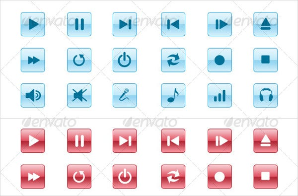 Multimedia Player Icons