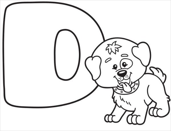 Disney Alphabet Coloring Page