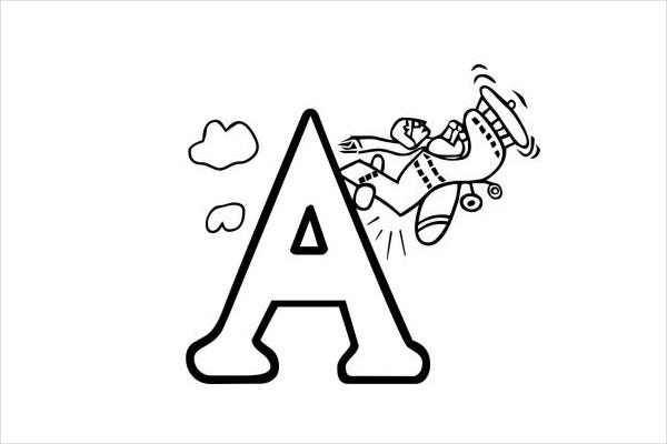 Alphabet Coloring Page for Kid's