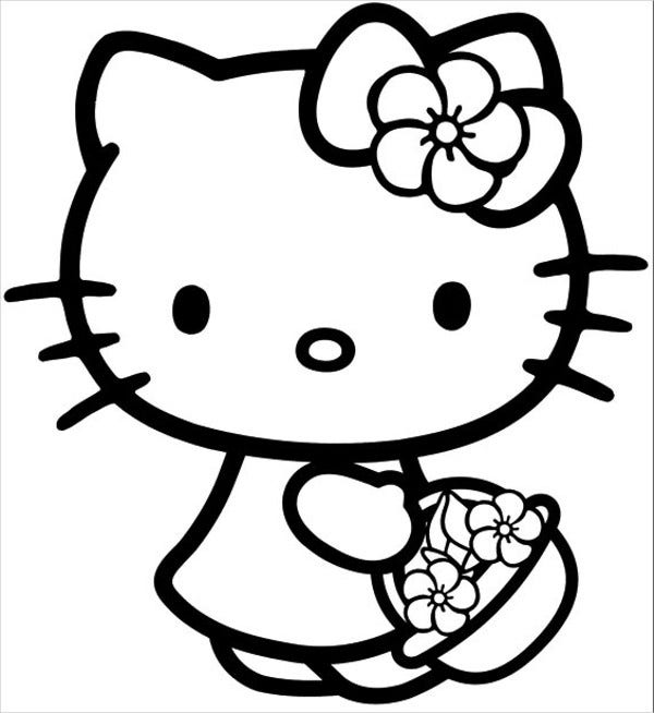 Hello Kitty Alphabet Coloring Page