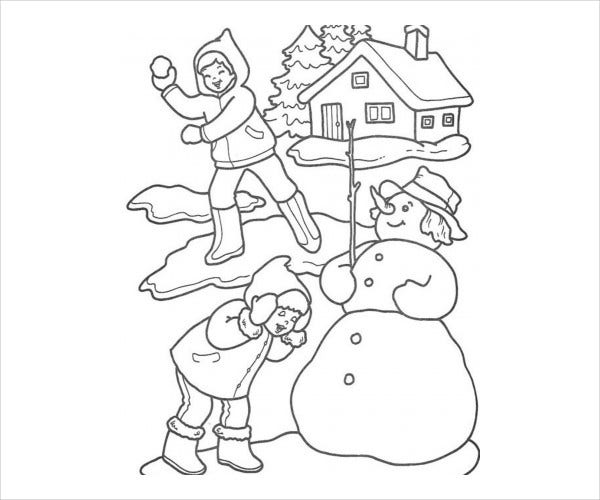 Printable Winter Coloring Page