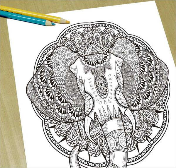 9 Elephant Coloring Pages Free