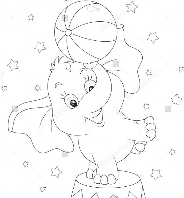 9 Elephant Coloring Pages