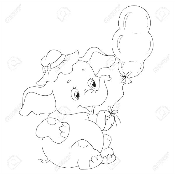 9 Elephant Coloring Pages Free Sample Example Format Free Premium Templates