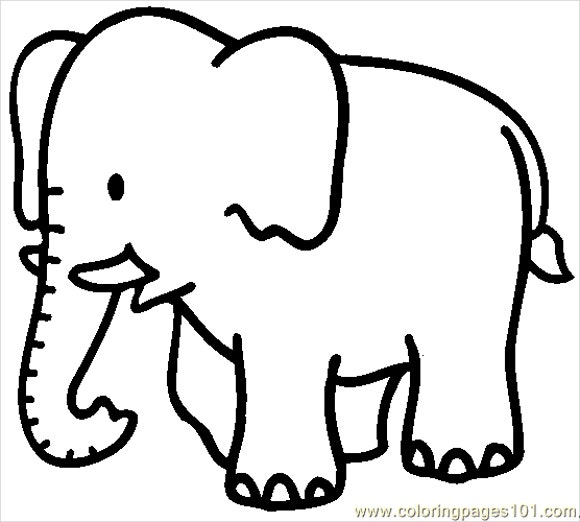 9 Elephant Coloring Pages Free Sample Example Format Free
