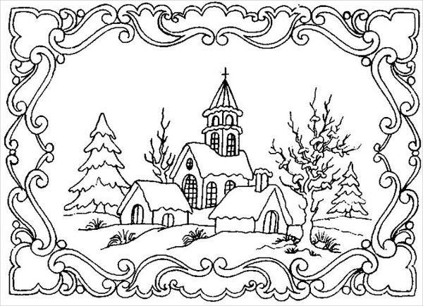 winter coloring pages for adults 9+ Winter Coloring Pages   Free PDF, , Format Download | Free  winter coloring pages for adults