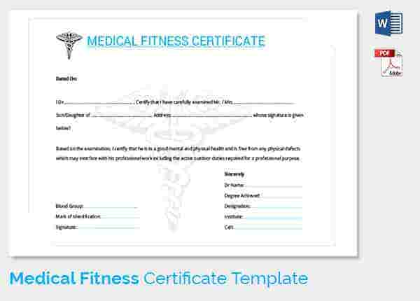 Medical Certificate Template 20 Free Word PDF Documents – Medical Certificate Form