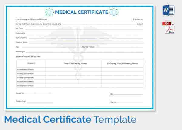 Medical Certificate Free Download