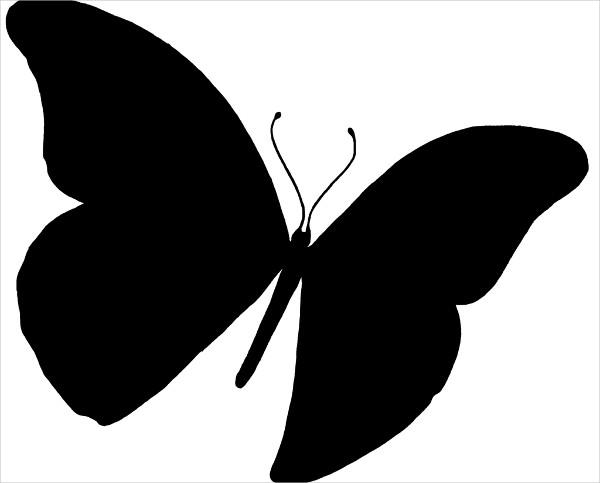 Silhouette Butterfly Pattern