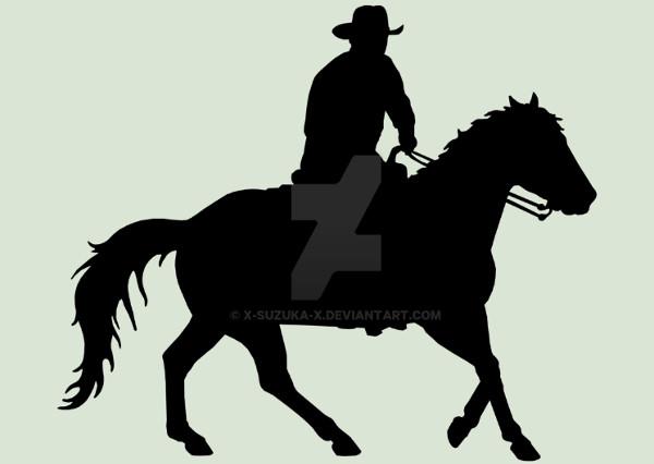 Cowboy Silhouette Pattern