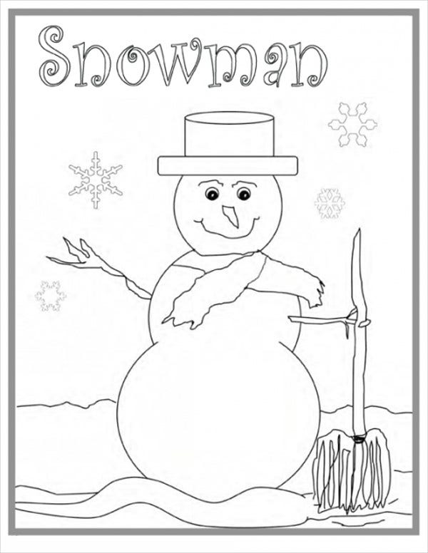 Winter Holiday Coloring Pages for Kids