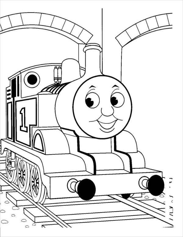free printable train coloring page