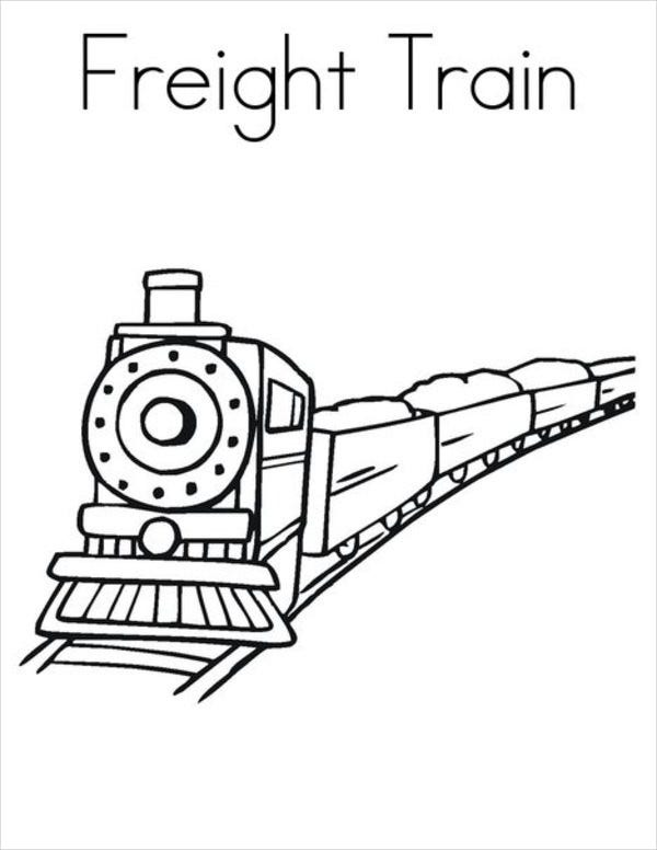9 Train Coloring Pages PDF