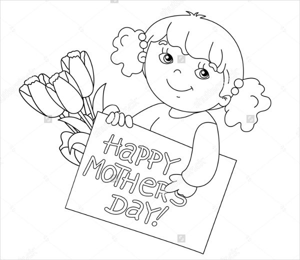 9 Mothers Day Coloring Pages Free Sample Example Format Free