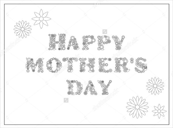 Mothers Day Coloring Pages  Free Sample Example Format