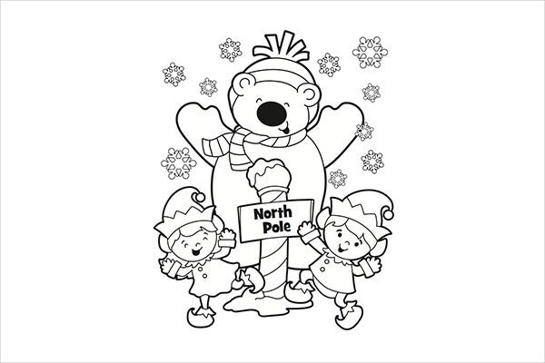 Christmas Fun Coloring Page