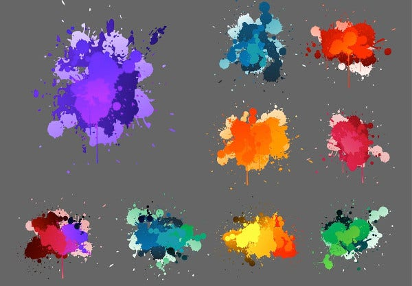 Splatter Paint Vector