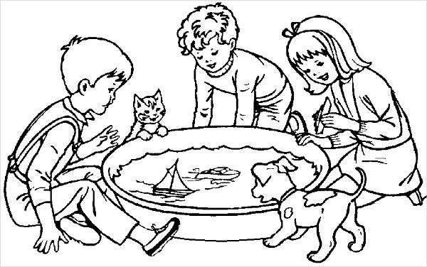 Children's Fun Coloring Page