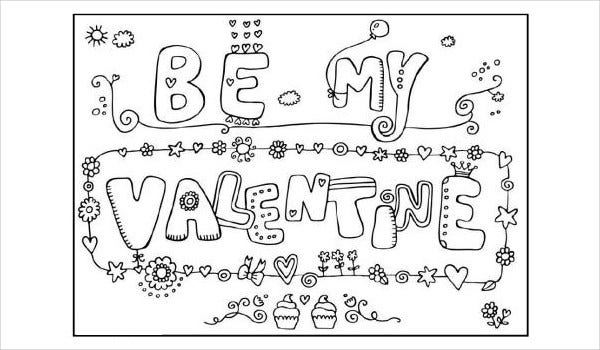 Valentine's Day Fun Coloring Page