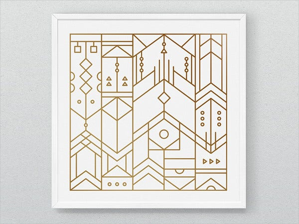 Aztec Line Pattern
