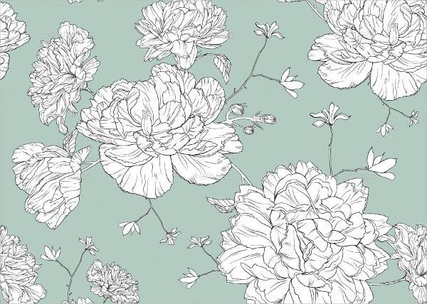 Floral Line Pattern