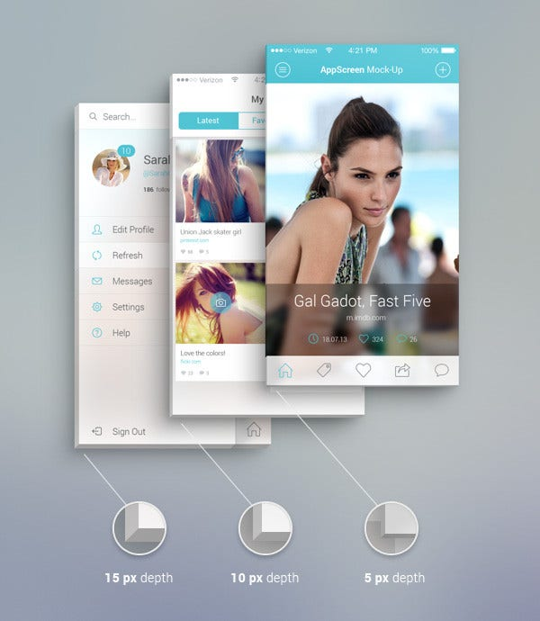 App Front Screen Mockup