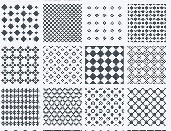 black squared diamond pattern