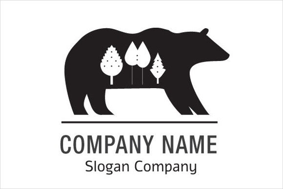 black-and-white-bear-logo